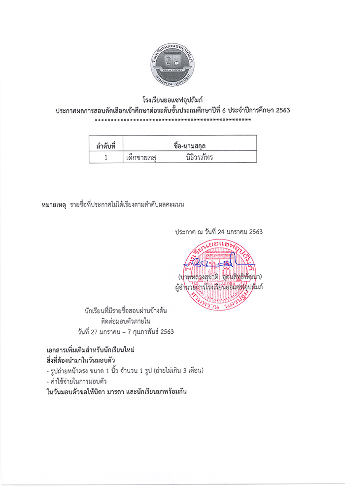 Primary exam results (Man) 63 (7)